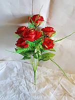 Букетик роз, на 7 голов NC-47 (14 шт./ уп.) Искусственные цветы оптом, фото 1