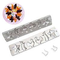 Форма для приготовления леденцов и конфет на палочке «Звезда Петушок и Зайчик»