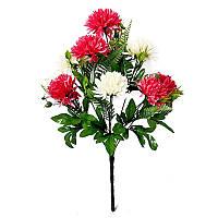 Букет микс двухцветный на 9 голов хризантема  NM 9 (12 шт./уп.) Искусственные цветы оптом, фото 1