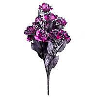 Букет роза на 12 голов с блеском NМ 39 (12 шт./уп.) Искусственные цветы оптом, фото 1