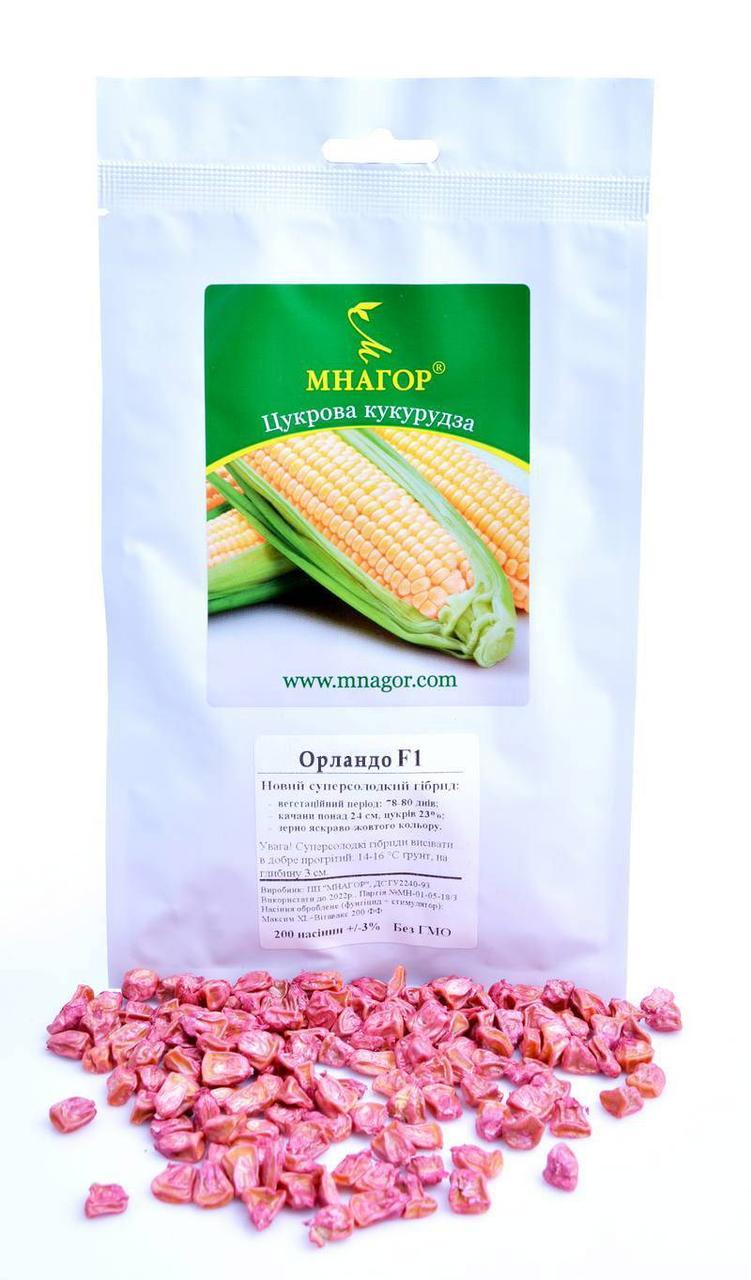 Сахарная кукуруза Орландо F1, Sh2-тип, 100 000 семян на 1.5 га, 78-80 дней