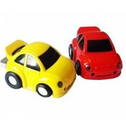 Флешка - автомобиль ( желтая )( 4 gb ) + подарочная упаковка