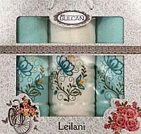 Набор полотенец Merzuka Leilani махровые 50-90 см-2 шт,70-140 см-1 шт мятный