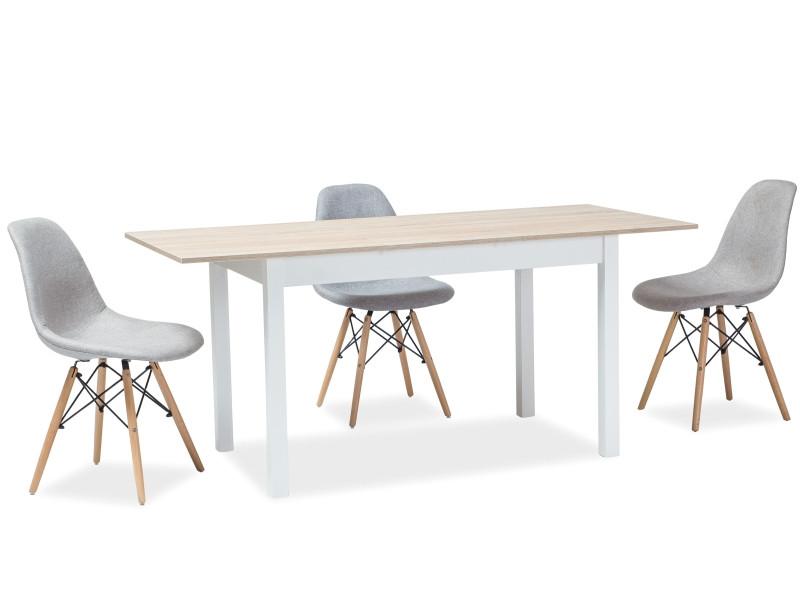 Стол раскладной HORACY дуб сонома/белый 100 (140)x60 (SIGNAL)