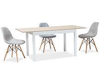 Стол раскладной HORACY дуб сонома/белый 100 (140)x60 (SIGNAL), фото 1