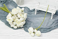 Ветка цветков ранункулуса премиум. белый