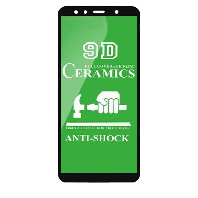 Захисне скло Ceramic Samsung A7 2018 Black