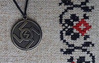 "Слов'янський оберіг Амулет на шею ""Ведара"", Оберіг має діагональ: 2,5 см, метал"