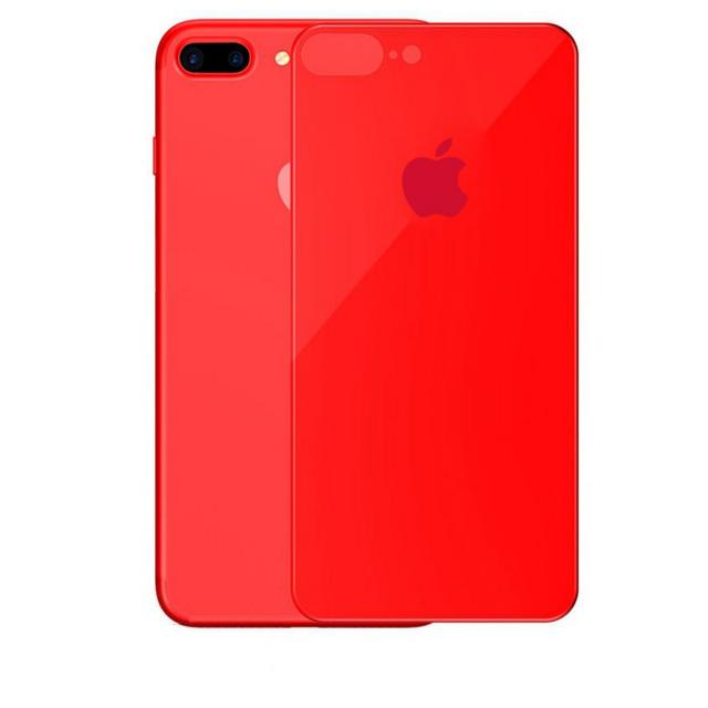 Скло Захисне Back Glass iPhone 7/8 Plus Red