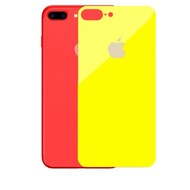 Скло Захисне Back Glass iPhone 7/8 Plus Yellow