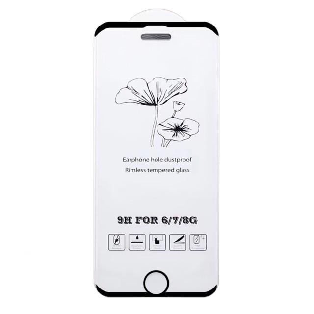 Скло Захисне Dust proof/No edge iPhone 6/6S Black