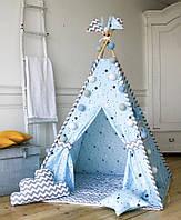 """Вигвам для мальчика """" Бирюзовая россыпь"""". Палатка. домик для игр"""