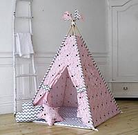 """Вигвам для девочки """" Розовая россыпь"""". Палатка. домик для игр"""