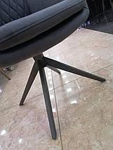 Стілець Поворотний R-85 графіт, фото 3