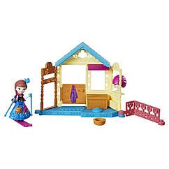 Набор Дисней Маленькое Королевство Холодное сердце Спа салон Анны. Hasbro E0234/E0096