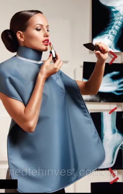 Рентгенозахистний фартух стоматологічний для пацієнта (Україна), темно-синій