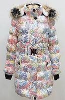 Пальто зимнее для девочки с пуховым наполнителем ( натуральный пух)