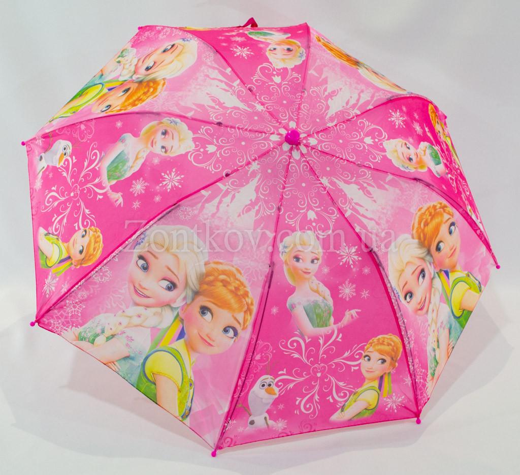 """Детский складной зонтик с узором """"Холодное сердце"""" на 5-8 лет от фирмы """"Paolo Rosi."""