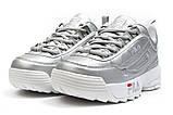 Кроссовки женские  Fila Disruptor 2, серебряные (13558) размеры в наличии ► [  38 39 40 41  ], фото 7