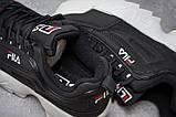 Кроссовки женские  Fila Disruptor 2, черные (14482) размеры в наличии, фото 6