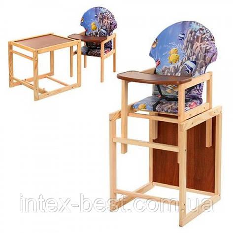 Детский деревянный стульчик для кормления V-002-4, фото 2