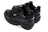 Кроссовки женские  Fila Disruptor II Black, черные (14411) размеры в наличии ► [  36 37  ], фото 8
