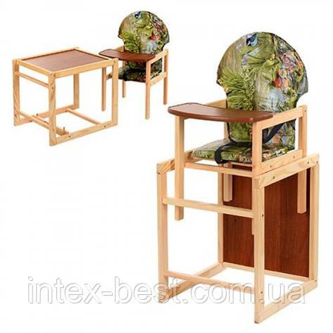 Детский деревянный стульчик для кормления V-002-5, фото 2