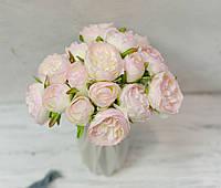 Букет троянд Остіна. біло-рожевий, фото 1