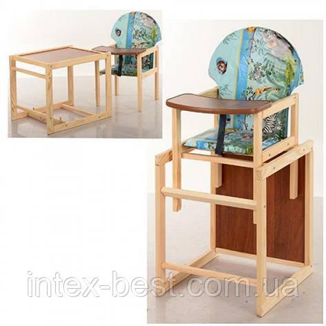 Детский деревянный стульчик для кормления V-002-6, фото 2
