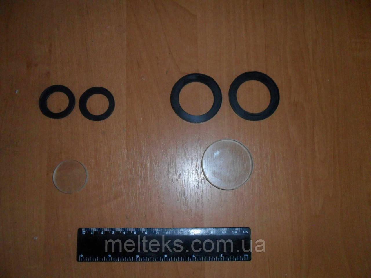 Смотровое стекло круглое с прокладками 32 и 48 мм