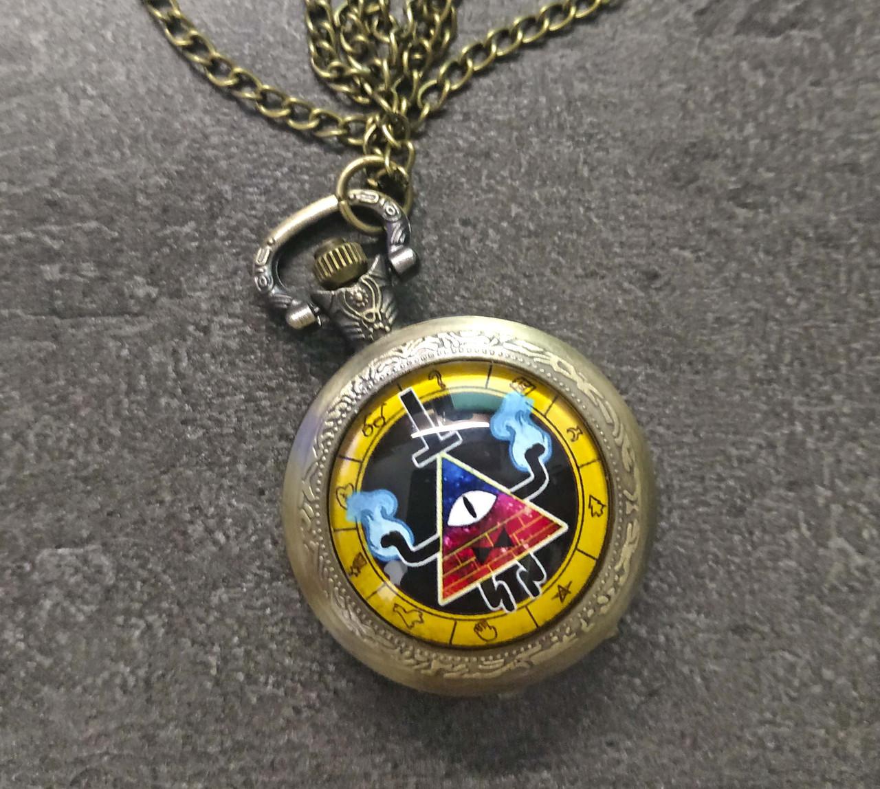 Карманные часы Билл Шифр Гравити Фолз разноцветный/ Gravity Falls