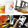 Ніж-мультитул багатофункціональний 11 в 1, Кредитка мультитул, колір чорний, фото 6