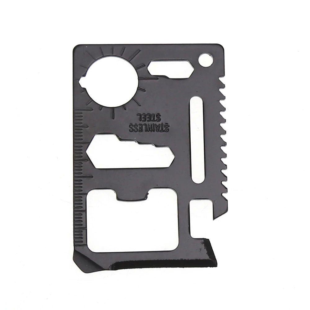 Нож-мультитул многофункциональный 11 в 1, Кредитка мультитул, цвет черный