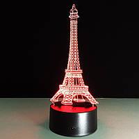 3D Светильник 🌹Эйфелева башня🌹. 1 Светильник - 16 разных цветов света, 8 марта подарок девушке