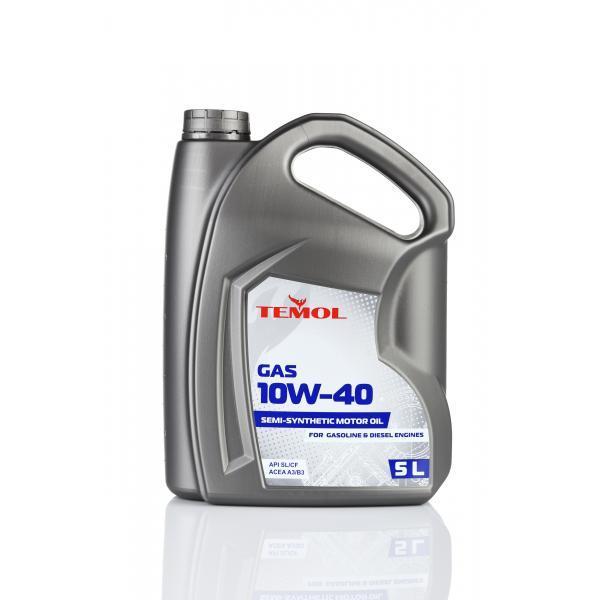 Моторное масло Temol 10w40 Gas 5л