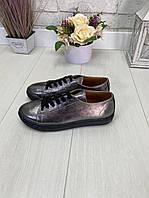 40 р. Кеды женские кожаные на подошве, из натуральной кожи, натуральная кожа, фото 1