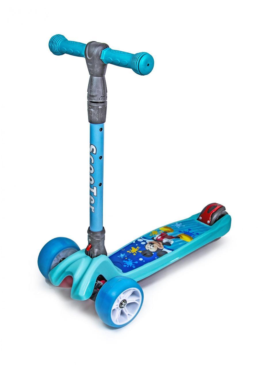 Самокат Active Scooter Smart Mini Mickey Mouse Вlue (складная ручка)