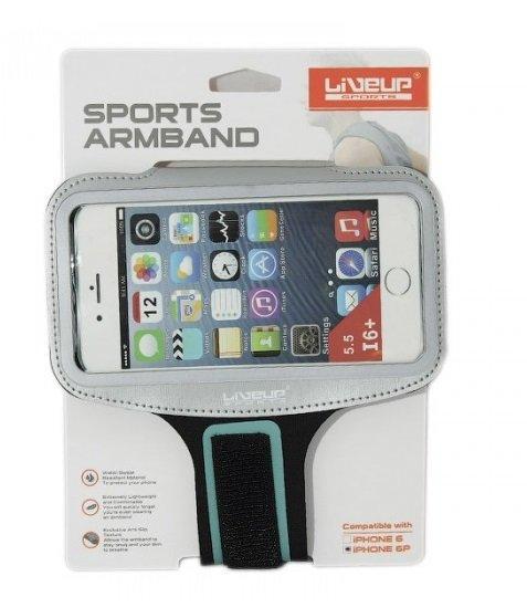 Чехол для телефона на руку Live Up Sports Armband чернро/белый
