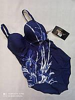 Купальник бандо 2020 год 68222 Аглая синий с белым (есть 54 56 58 60 62   размеры)