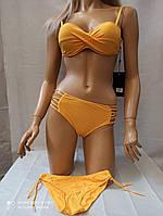 Купальник  с 2 плавками 6820 Алеста  -214  2020 год FUBA желтый(есть 42 44 46 48 50 размеры)