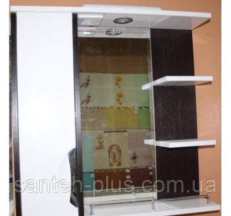 """Зеркало для ванной комнаты с подсветкой и пеналом """"Принц""""2-80 венге( левое и правое), фото 2"""