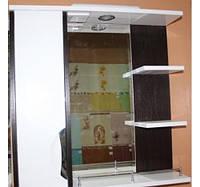 """Зеркало для ванной комнаты с подсветкой и пеналом """"Принц""""2-80 венге( левое и правое)"""