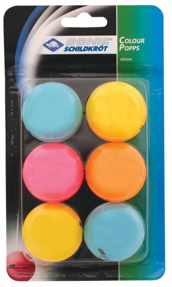 Мячи для настольного тенниса Donic Color Popps 6шт.