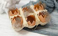 """Композиция на подставке """"битые яйца"""" коричневые"""
