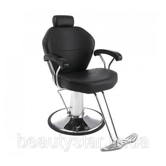 Крісло чоловіче перукарське Marcelo перукарське крісло для барбершопа, з підголовником для бровиста