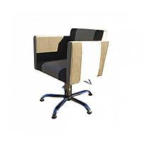 Парикмахерское кресло, Кресла для парикмахерской квадратной формы с мягкими подлокотниками Квадро (Quadro)