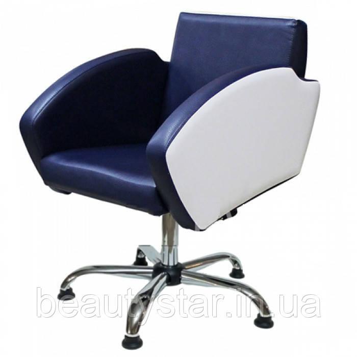 Парикмахерские кресла для клиента салона красоты в оригинальном дизайне с мягкими подлокотниками Лира (Lira)