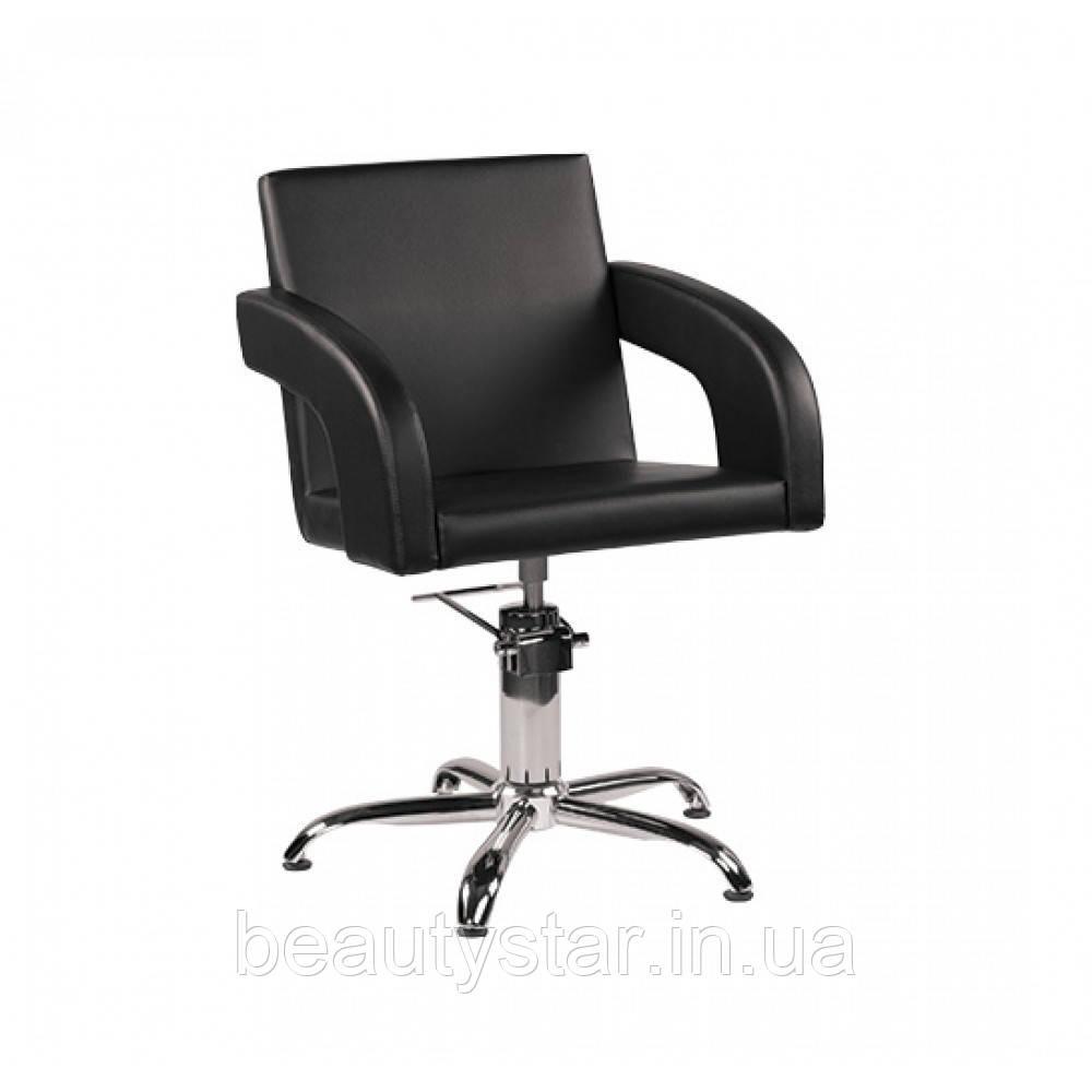 Стильное Кресло парикмахерское для клиентов салона красоты с мягкими подлокотниками Тина (Tina)