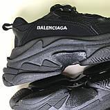 Кроссовки Balenciaga Triple S Full Black, фото 10