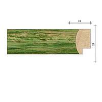 Рамка из деревянного багета 40х50 см db02 - №1 Зеленый